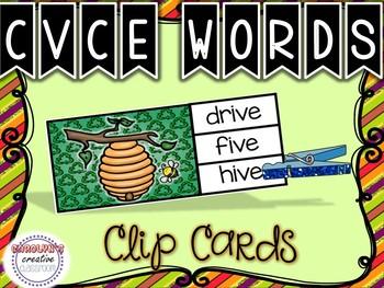 CVCe Clip Cards - Earth Day Edition