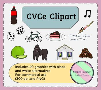 CVCe Clipart Set