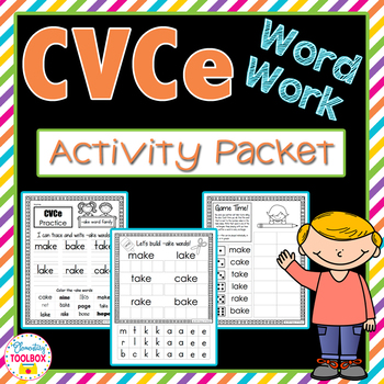 CVCe Word Work Activity Packet-NO PREP