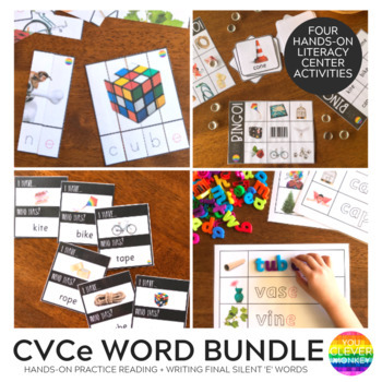 CVCe Final Silent 'e' Word BUNDLE
