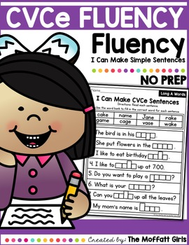 CVCe Fluency: I Can Make Simple Sentences
