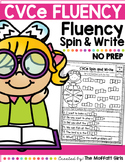 CVCe Fluency: Spin and Write