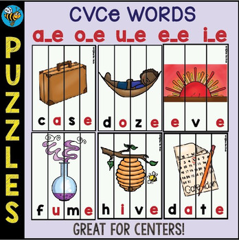 CVCe Game: Puzzles for Young Learners and ESL Kids