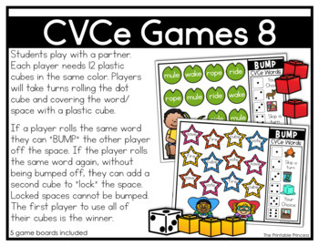 CVCe Games and Partner Activities {Kindergarten Literacy: CVCe Words}