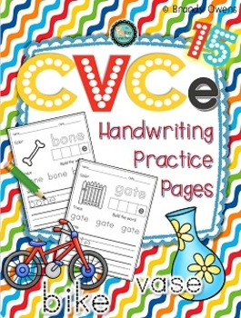 CVCe Handwriting Practice Pages