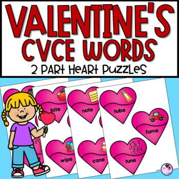 CVCe Valentine's Day Heart Puzzles