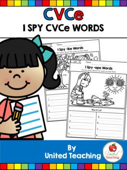 CVCe: I Spy CVCe Words No Prep Packet