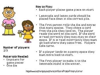 CVCe Lemonade Stand Game
