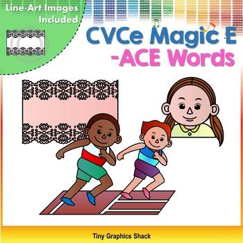 CVCe (Long A) -ACE Word Family Clip Art