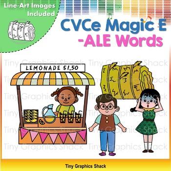 CVCe (Long A) -ALE Word Family Clip Art