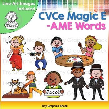 CVCe (Long A) -AME Word Family Clip Art