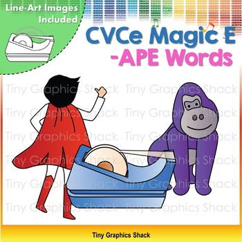 CVCe (Long A) -APE Word Family Clip Art
