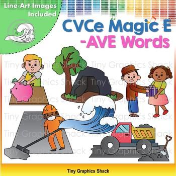 CVCe (Long A) -AVE Word Family Clip Art