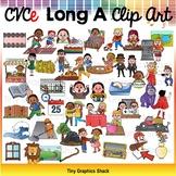CVCe Long A Clip Art Bundle