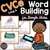 CVCe - Long A - FREE Phonics Word Building for Google Slid