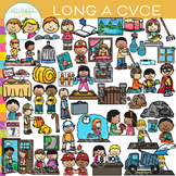 CVCe Long A Word Family Clip Art - Volume Two