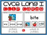CVCE Words and Pictures Clip Cards Long I Magic E Activity