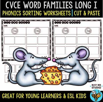 CVCe Long I Sorts   Cut and Paste Worksheets