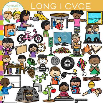 CVCe Long I Word Family Clip Art