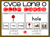 CVCE Words and Pictures Clip Cards Long O Magic E Activity