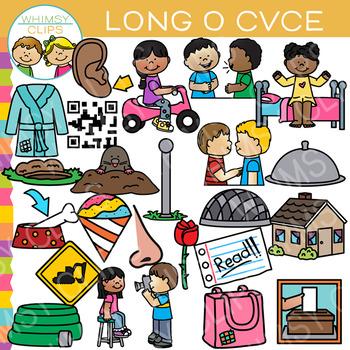 CVCe Long O Word Family Clip Art