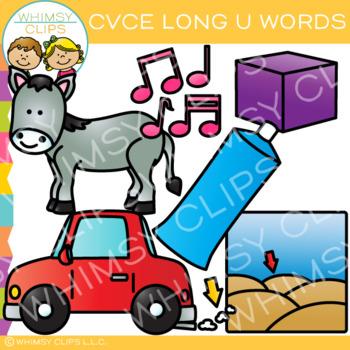 CVCe Long U Clip Art