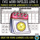 CVCe Long U Sorts | Cut and Paste Worksheets