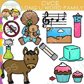CVCe Long U Word Family Clip Art - Volume Two