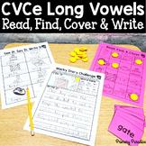 CVCe Long Vowel & CVC Word: Read, Find, Cover, & Write