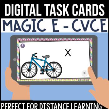 CVCe/Long Vowel Digital Task Cards