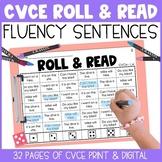 CVCe Long Vowel Fluency Roll & Read Sentences