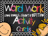 Long Vowel (CVCe) Word Work Cards (or Center)  *100+ cards*