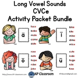CVCe Long Vowel Sounds Activity Packet and Worksheets Bundle