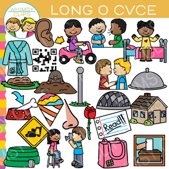 CVCe Long Vowel Clip Art - Volume Two {Word Family Clip Art}