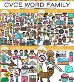 CVCe Long Vowel Clip Art Bundle - Volume Two {Word Family Clip Art}