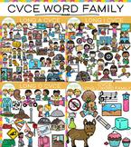 CVCe Long Vowel Clip Art Bundle - Volume Two {Word Family Clip Art}
