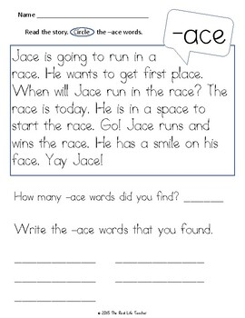 CVCe Long Vowel Word Family Passages for Fluency and Comprehension Word Work