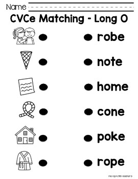 CVCe Word Worksheets by Amanda&#39-s Little Learners | TpT