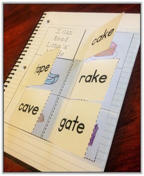 CVCe Long Vowels Interactive Notebook