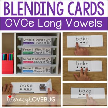CVCe Long Vowels Blending Cards