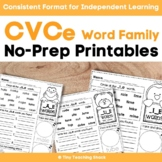 CVCe Long Vowels (Phonics) Printables