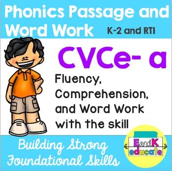 CVCe- Long a Phonics Passage and Word Work