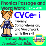 CVCe- Long i Phonics Passage and Word Work