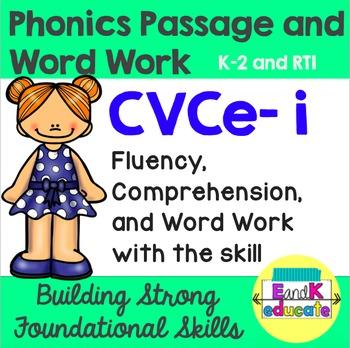 CVCe- Long i Phonics Passage and Word Work