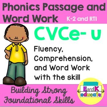 CVCe- Long u Phonics Passage and Word Work