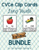 CVCe Magic E Long Vowel Clip Cards BUNDLE