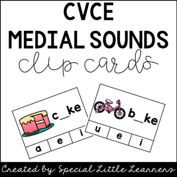 CVCe Medial Sound Clip Cards