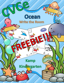 CVCe Ocean Write the Room FREEBIE