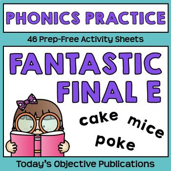 Silent E Phonics Activities