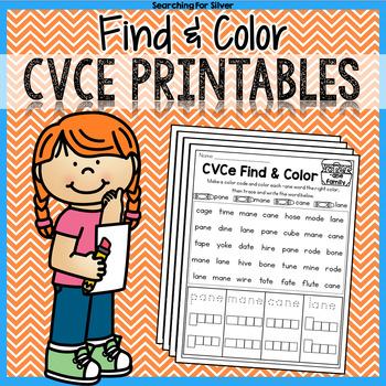 CVCe Practice: Find & Color
